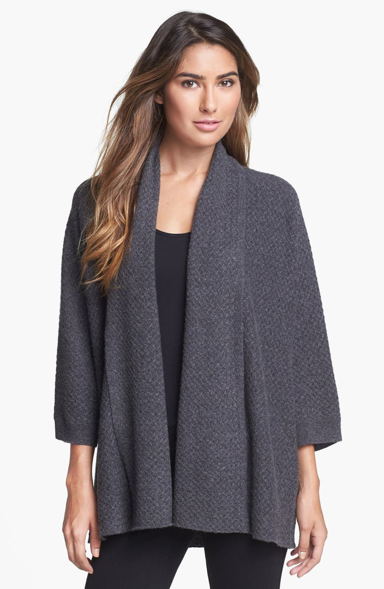 NORDSTROM COLLECTION Waffle Stitch Cashmere Cardigan, Main, color, 021