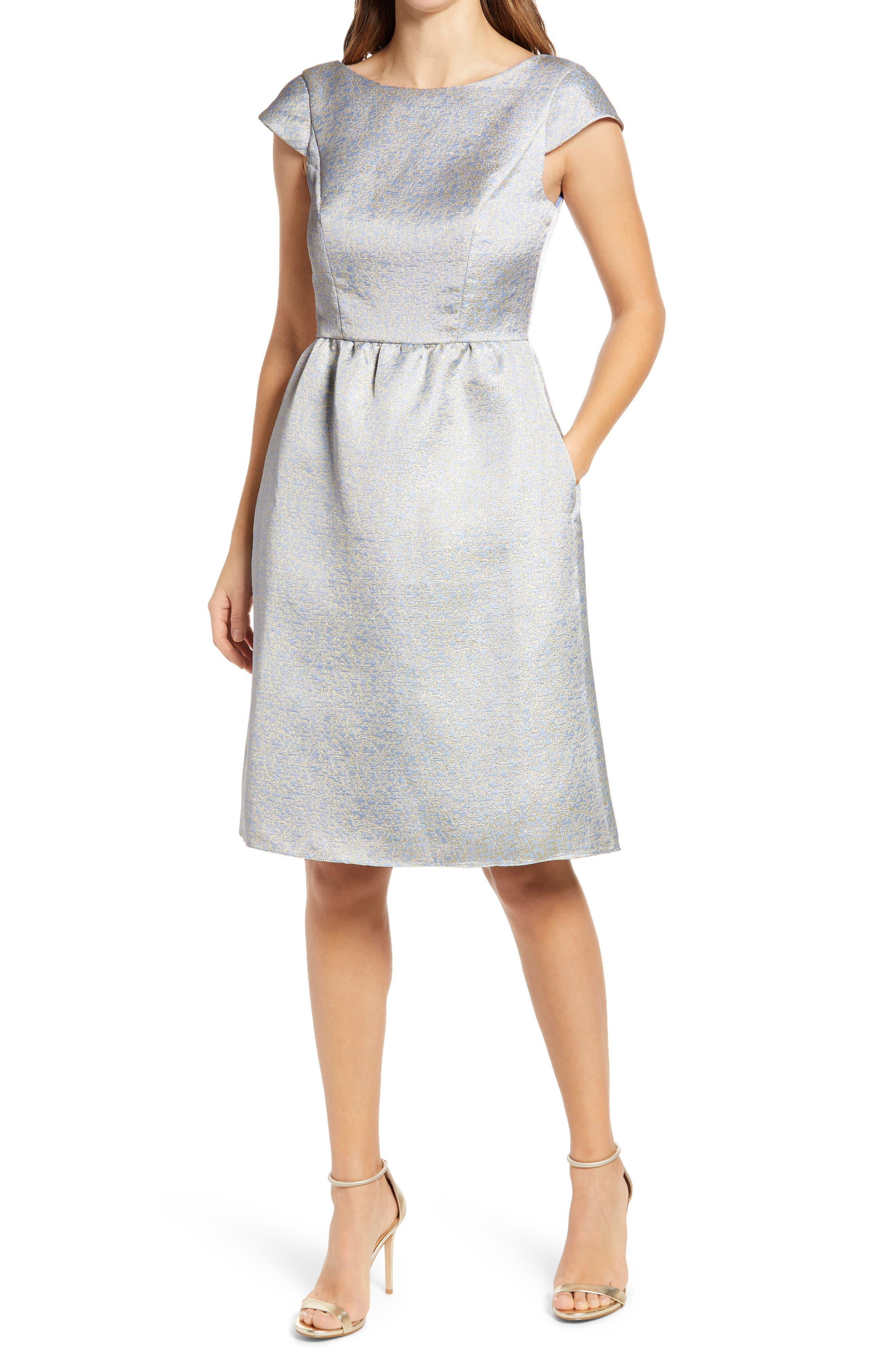 Bateau Neck Cocktail Dress
