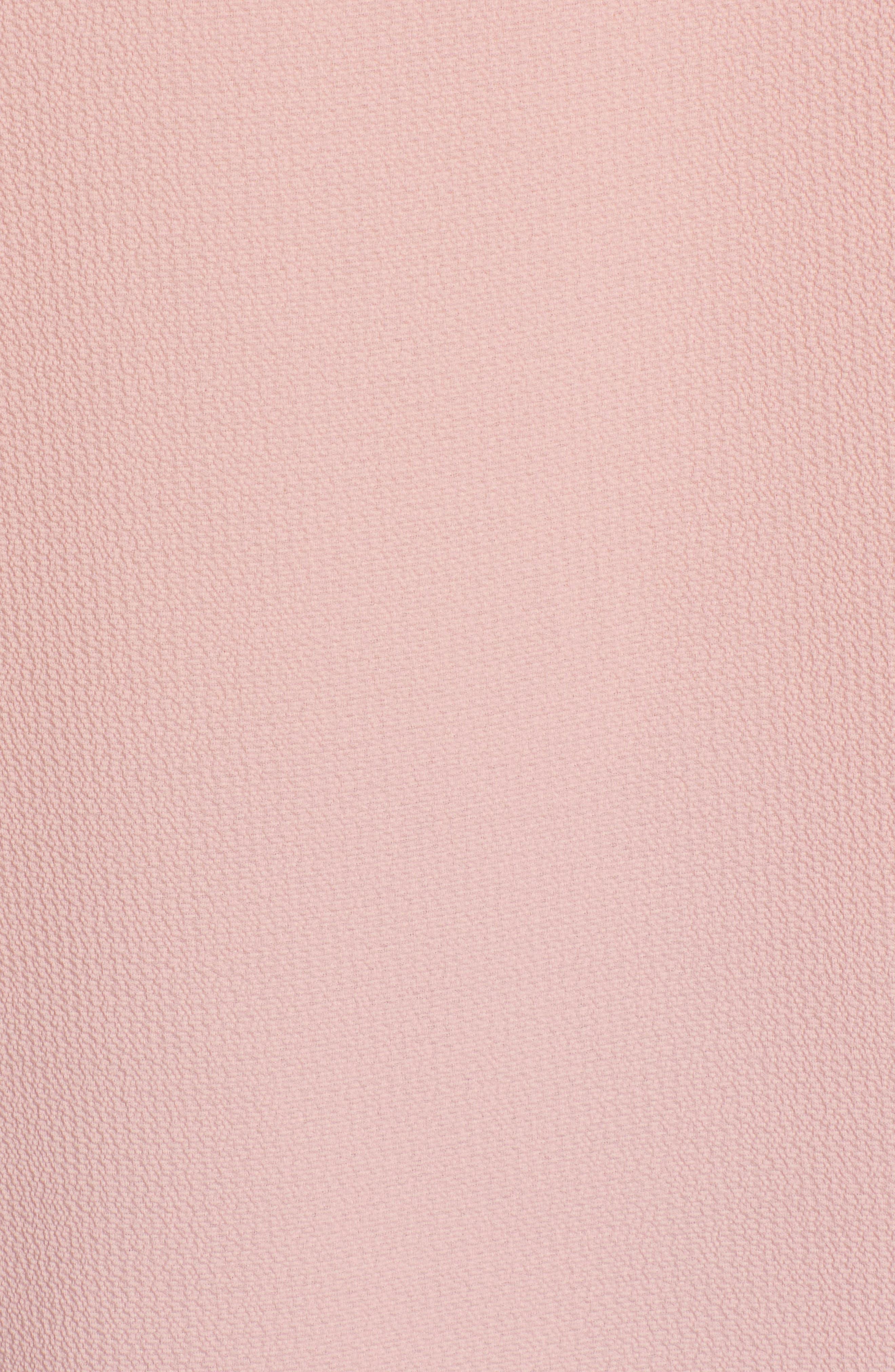 ,                             Lace & Crepe Top,                             Alternate thumbnail 6, color,                             BLUSH