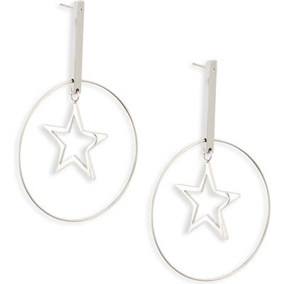 Knotty Floating Star Hoop Earrings