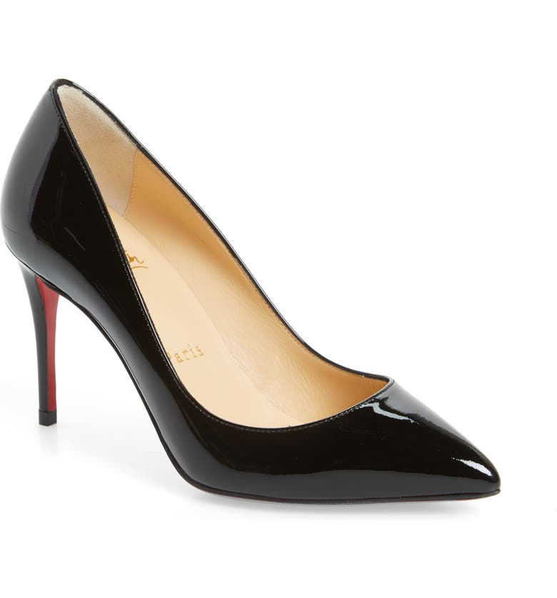 CHRISTIAN LOUBOUTIN Pigalle Follies Pointy Toe Pump, Main, color, BLACK