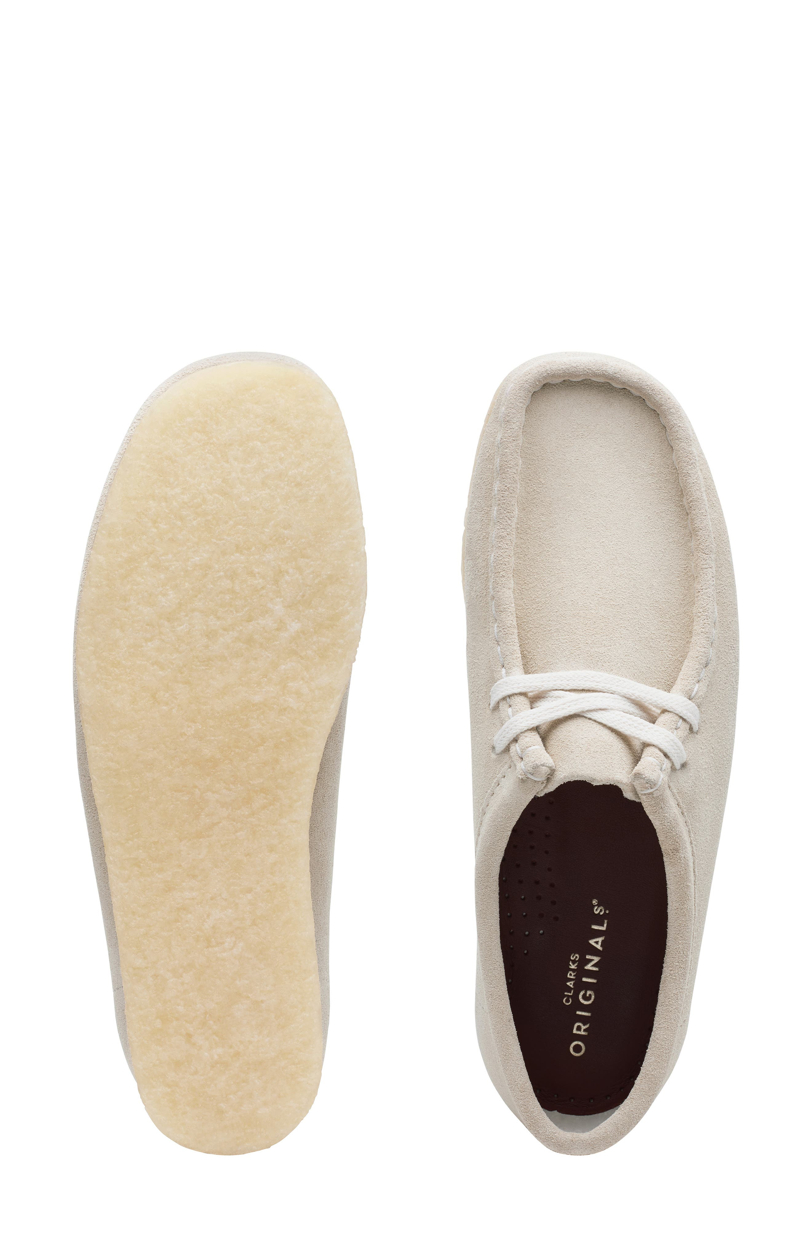 ,                             Wallabee Chukka Boot,                             Alternate thumbnail 6, color,                             OFF WHITE SUEDE