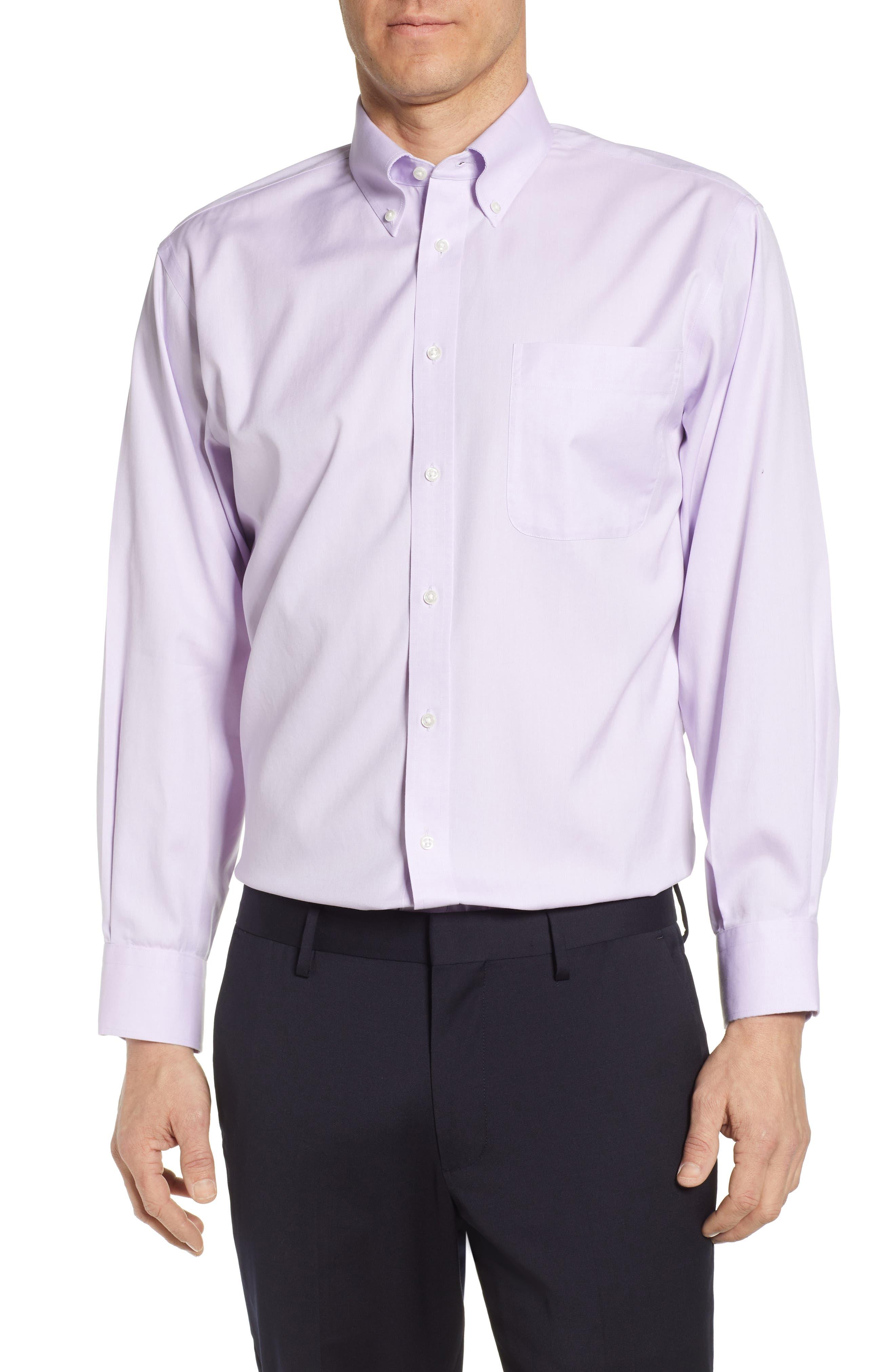 Nordstrom Shop Smartcare(TM) Classic Fit Dress Shirt, Purple