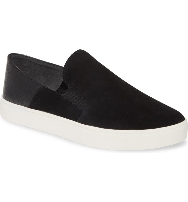 TREASURE & BOND Amari Sneaker, Main, color, BLACK SUEDE
