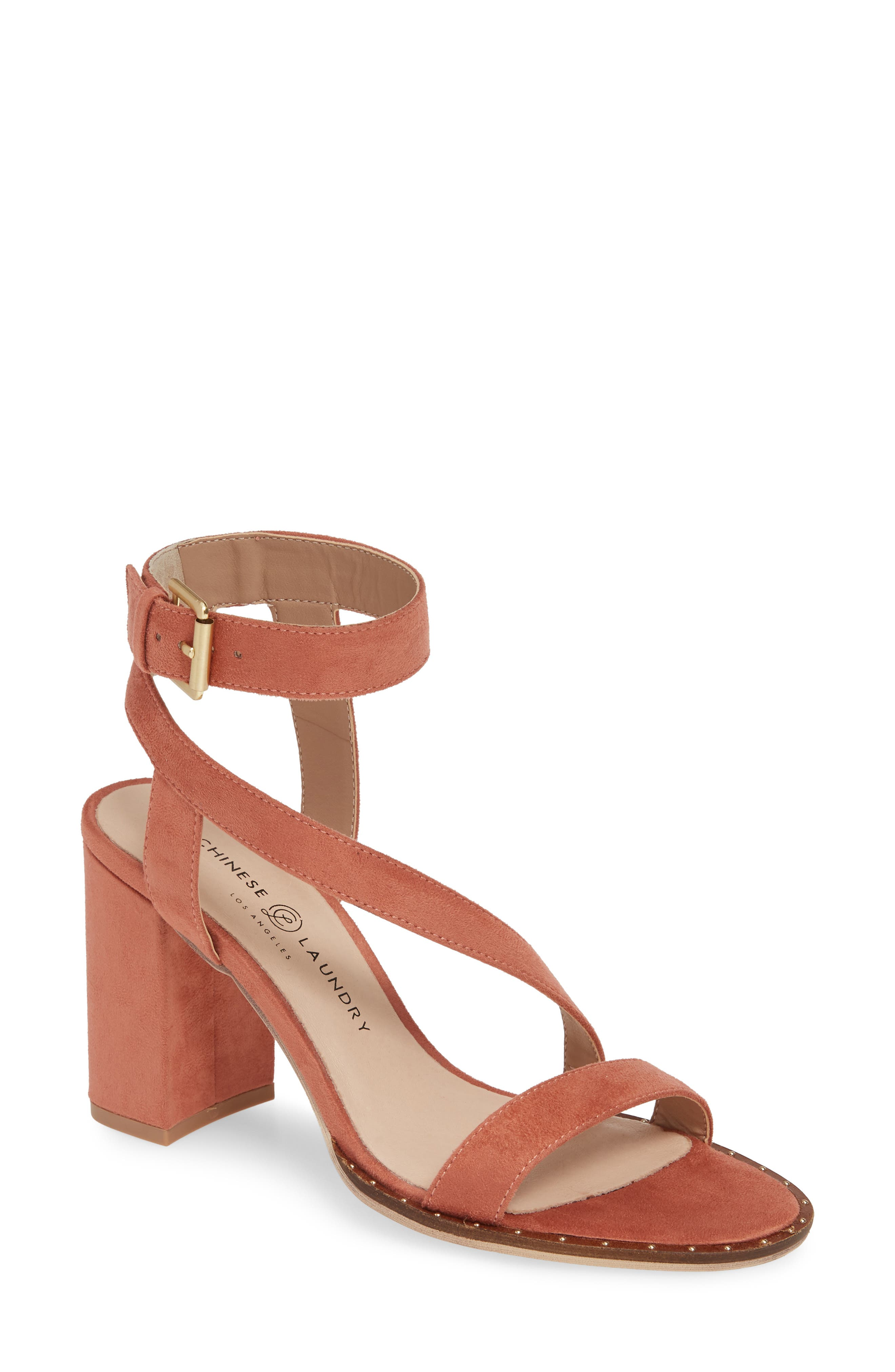 Chinese Laundry Simi Block Heel Sandal- Coral
