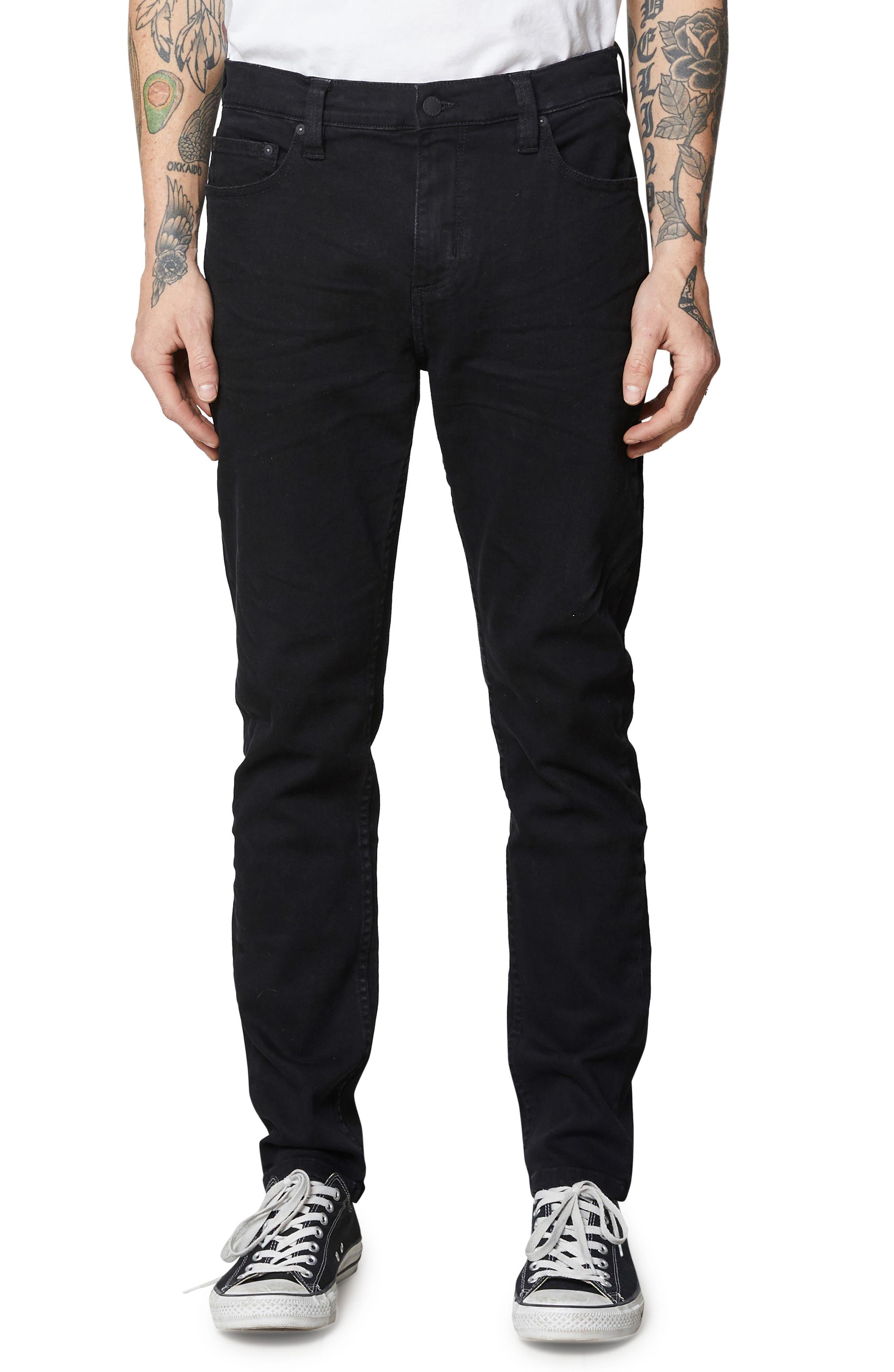 ,                             Tim Slim Fit Jeans,                             Main thumbnail 1, color,                             BLACK RAVEN