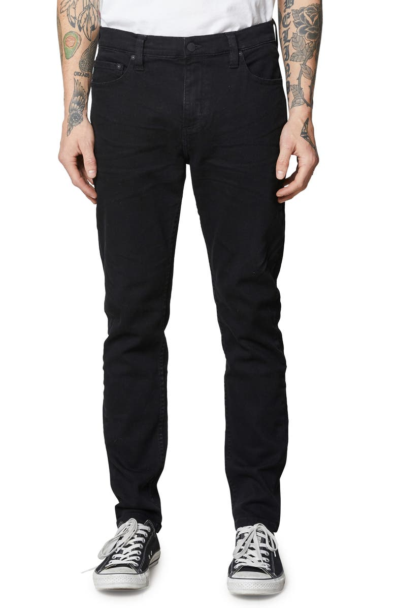 ROLLA'S Tim Slims Skinny Fit Jeans, Main, color, BLACK RAVEN