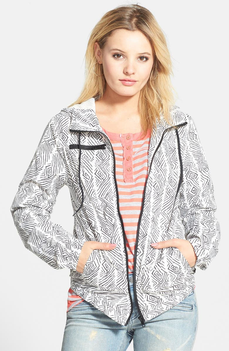 VOLCOM 'Enemy Stone' Hooded Jacket, Main, color, 001