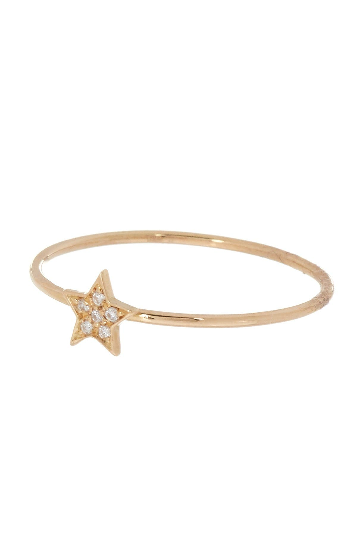 Image of Bony Levy 18K Yellow Gold Petite Star Diamond Ring - 0.02 ctw