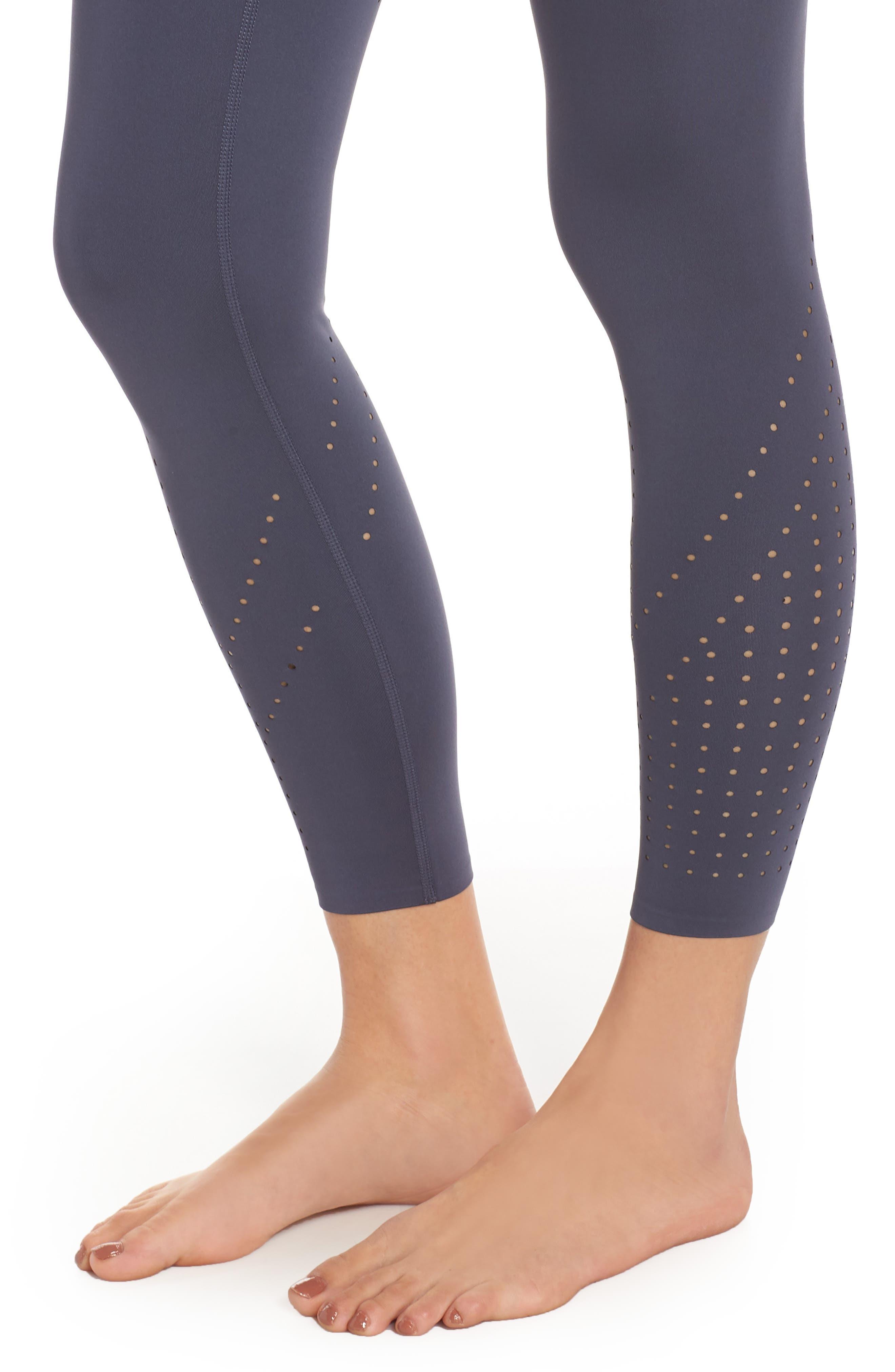 ,                             Hydra Perforated Leggings,                             Alternate thumbnail 5, color,                             BLUE VINTAGE