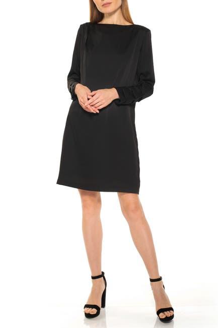 Image of Alexia Admor Draped Long Sleeve Shift Dress
