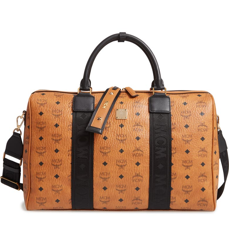 MCM Traveler Visetos Duffle Bag, Main, color, 200