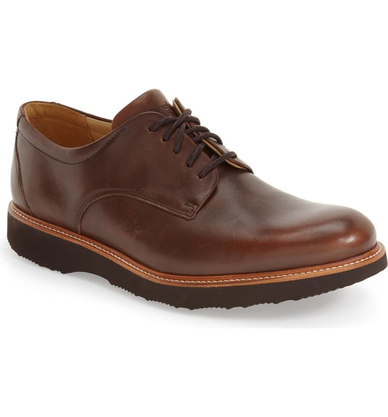SAMUEL HUBBARD 'Founder' Plain Toe Derby, Main, color, CHESTNUT LEATHER