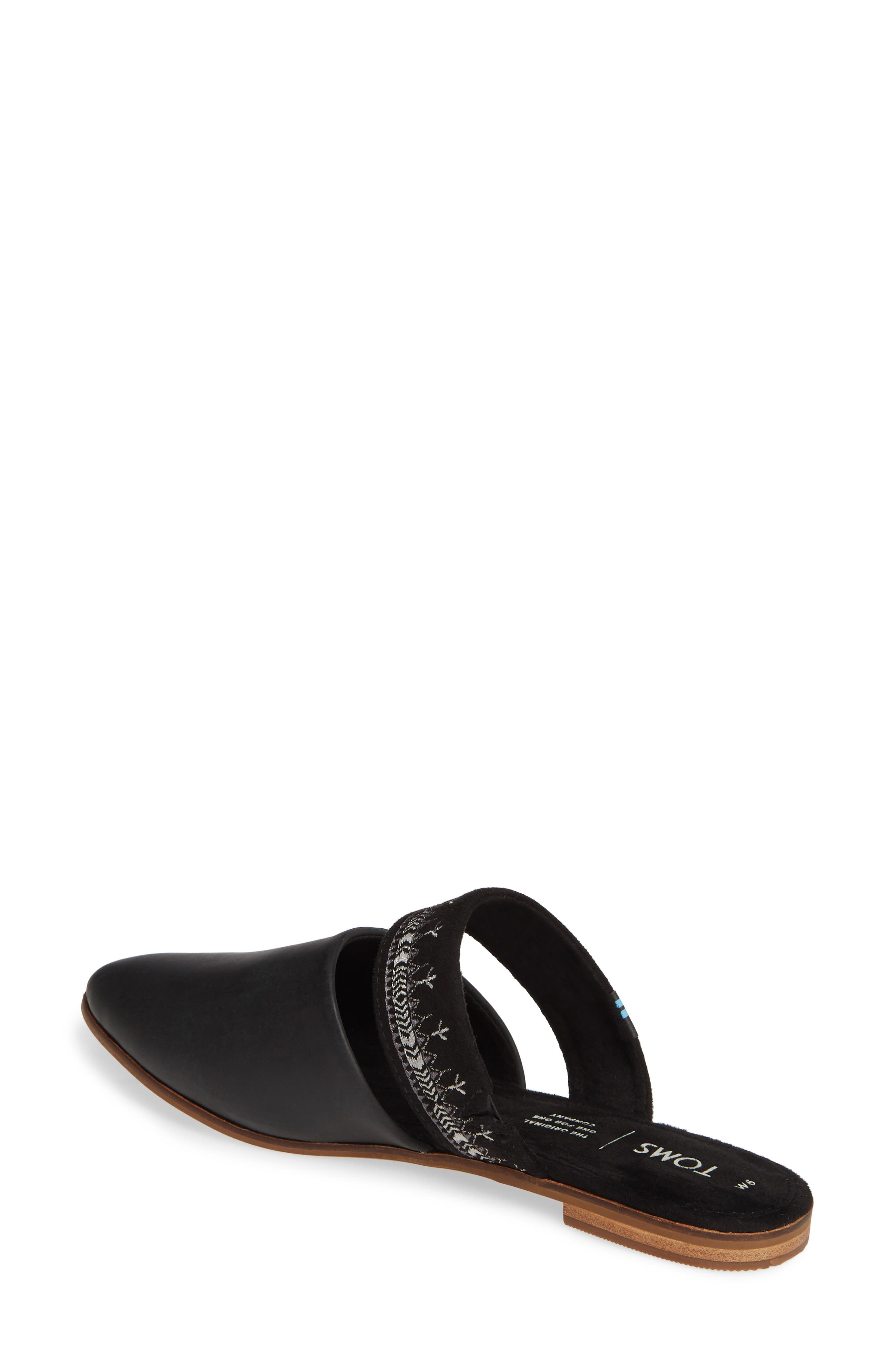 ,                             Jutti Embroidered Mule,                             Alternate thumbnail 2, color,                             BLACK EMBROIDERED LEATHER
