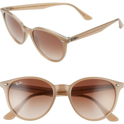 Ray-Ban Phantos 5m Round Sunglasses - Opal Beige/ Brown Gradient