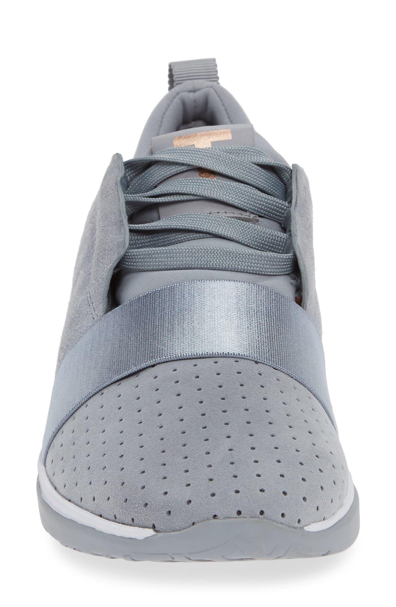 ,                             Cepap Sneaker,                             Alternate thumbnail 4, color,                             SLATE GREY SUEDE/ SATIN