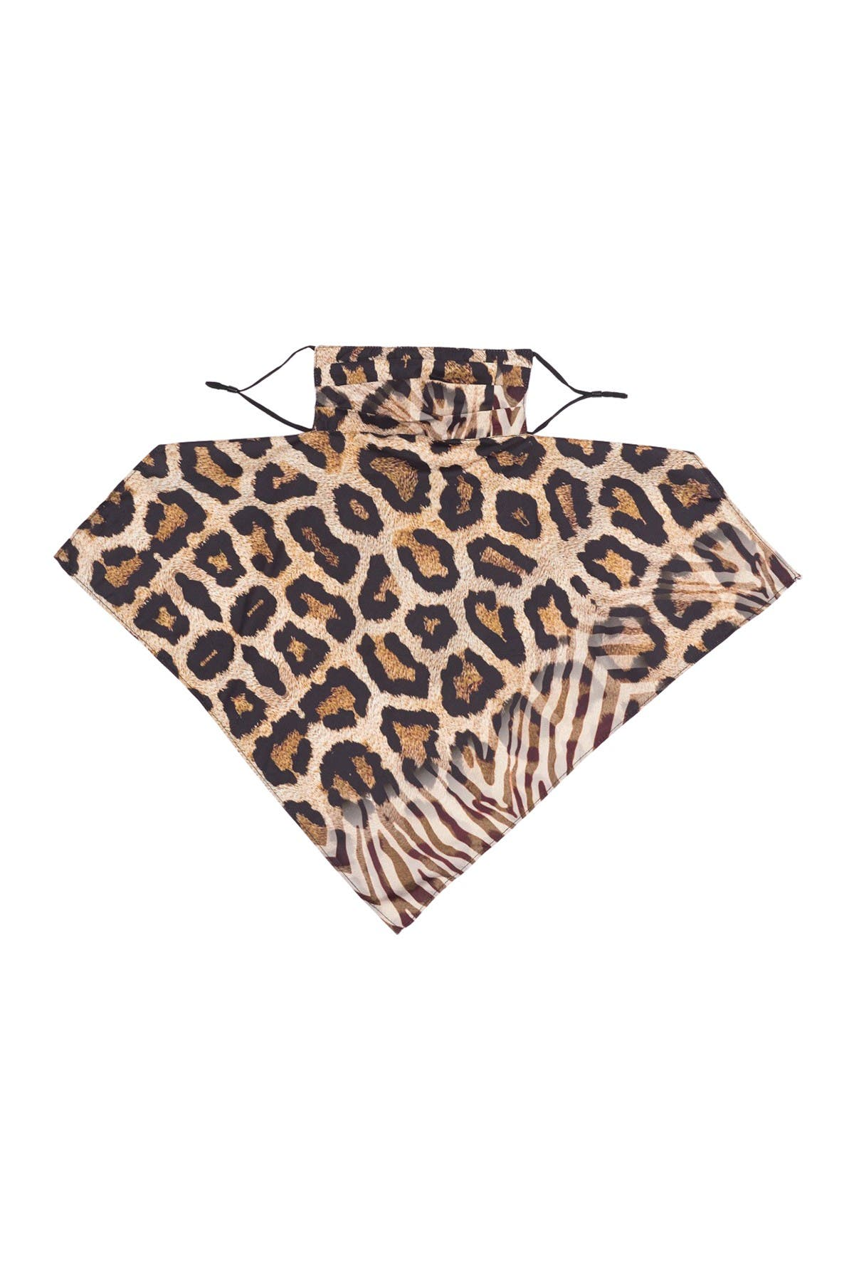 Image of LULLA COLLECTION BY BINDYA Leopard Print Adult Face Mask & Scarf Set