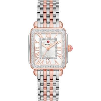 Michele Deco Madison Diamond Watch Head & Bracelet, 2m X 31Mm