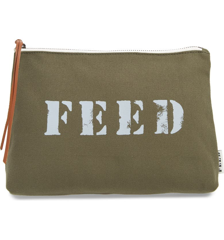 FEED Canvas Pouch, Main, color, ARMY GREEN