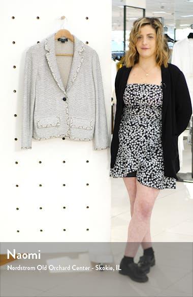 Luxury Crepe Tweed Knit Jacket, sales video thumbnail