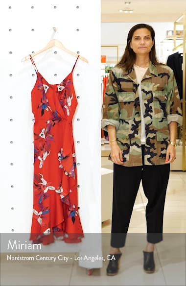 Faux Wrap Floral Midi Dress, sales video thumbnail