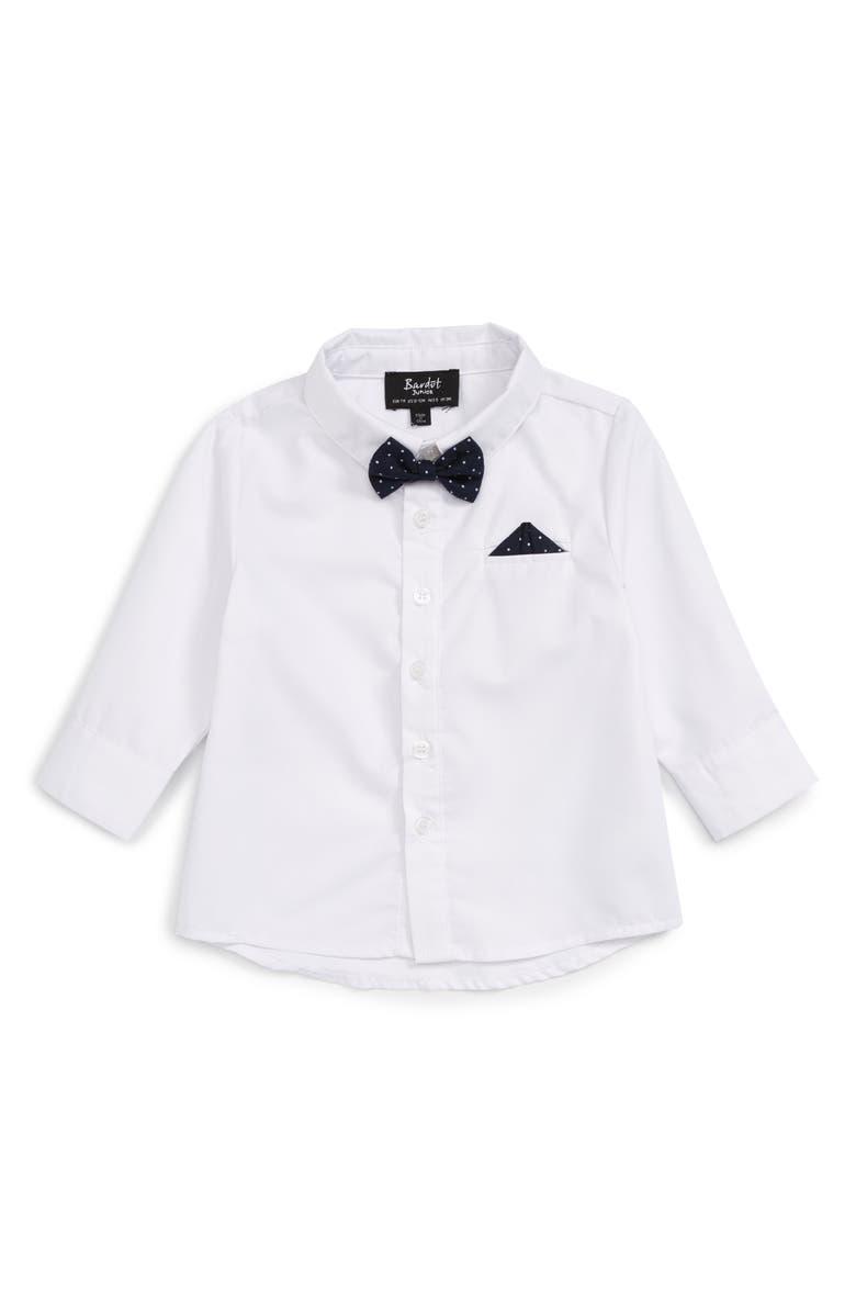 BARDOT JUNIOR Dapper Woven Shirt, Main, color, 100
