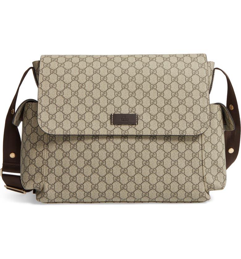 9a05b155e Diaper Messenger Bag, Main, color, BEIGE/ COCOA