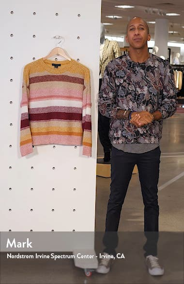 Blur the Lines Stripe Crewneck Sweater, sales video thumbnail