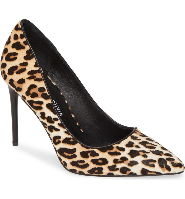 ALICE + OLIVIA Creda Genuine Calf Hair Pump, Main, color, NATURAL/ BLACK CALF HAIR