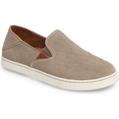 Olukai Pehuea Slip-On Sneaker, Beige
