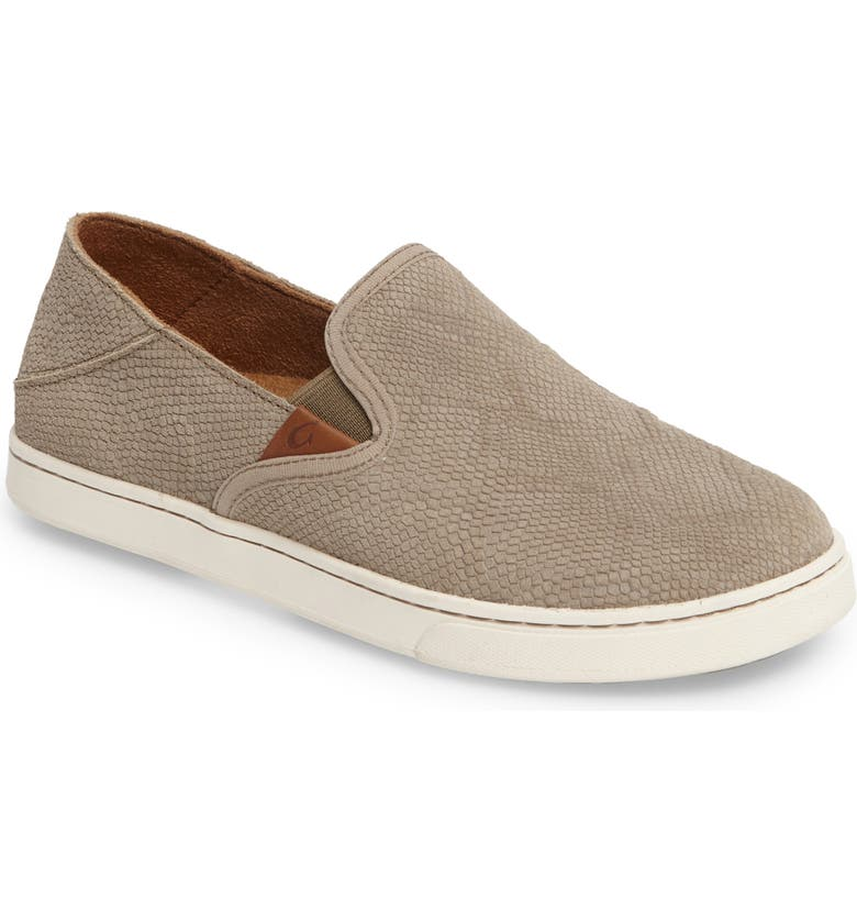 OLUKAI Pehuea Slip-On Sneaker, Main, color, CLAY HONU LEATHER