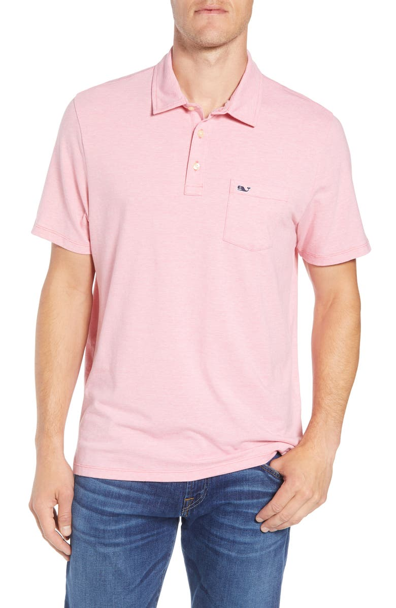 VINEYARD VINES Edgartown Polo Shirt, Main, color, JETTY RED