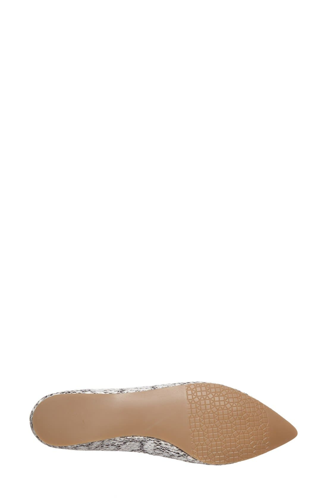 ,                             'Moveover' Pointy Toe Leather Flat,                             Alternate thumbnail 3, color,                             005