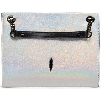 Thacker Ali Metallic Leather Convertible Crossbody Bag - Metallic