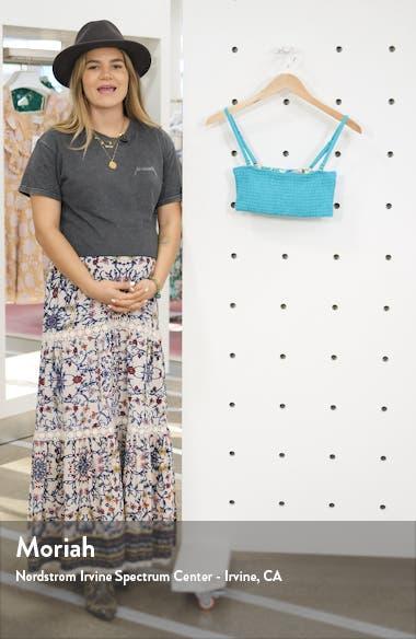 Smocked Reversible Bandeau Bikini Top, sales video thumbnail