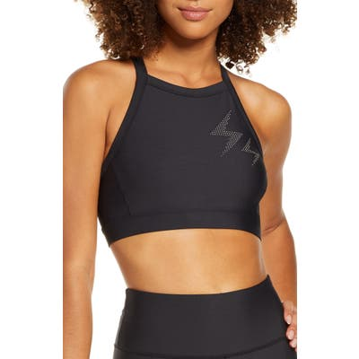 Soul By Soulcycle Electric Feeling Sports Bra, Black