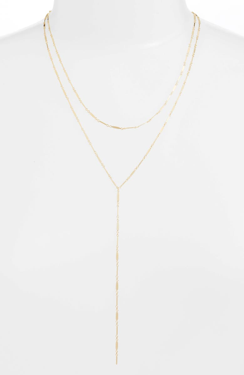 ARGENTO VIVO Mirror Bar Multistrand Y-Necklace, Main, color, GOLD