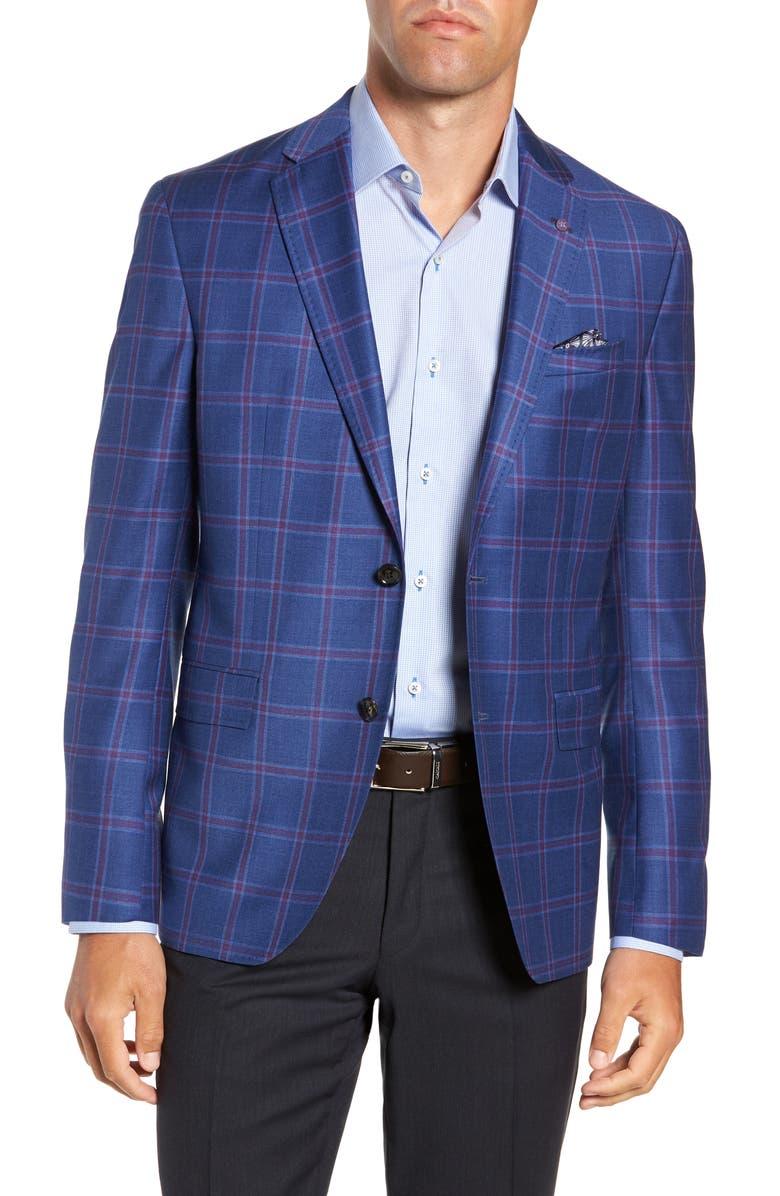 TED BAKER LONDON Konan Trim Fit Wool Sport Coat, Main, color, 400