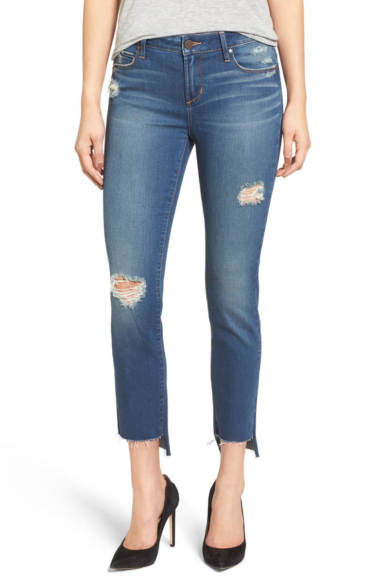 ARTICLES OF SOCIETY Staggered Hem Jeans, Main, color, 482