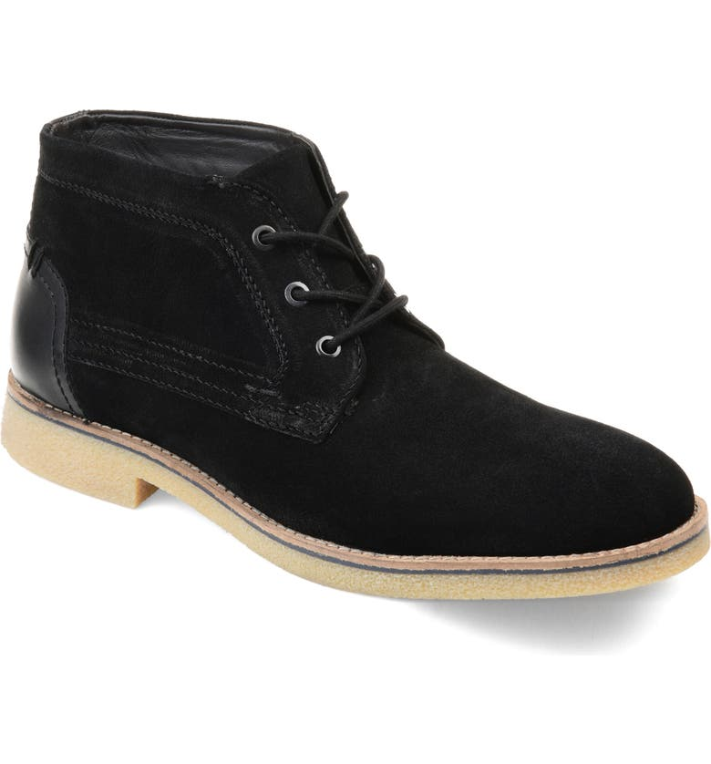 THOMAS AND VINE Phoenix Chukka Boot, Main, color, BLACK SUEDE