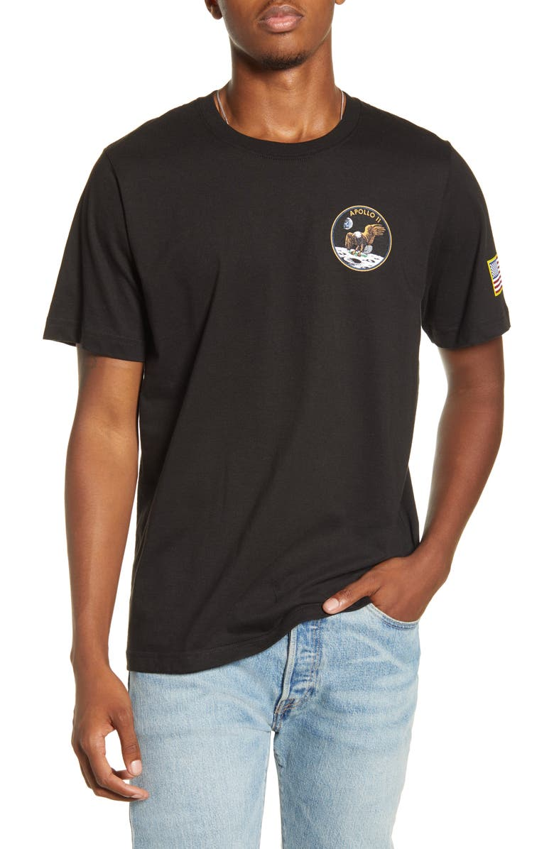 ALPHA INDUSTRIES Apollo T-Shirt, Main, color, BLACK