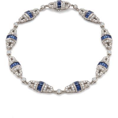 Kwiat Diamond & Sapphire Station Bracelet