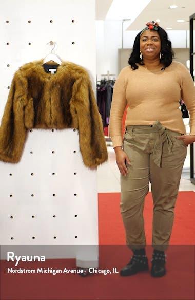 Chubby Faux Fur Crop Coat, sales video thumbnail