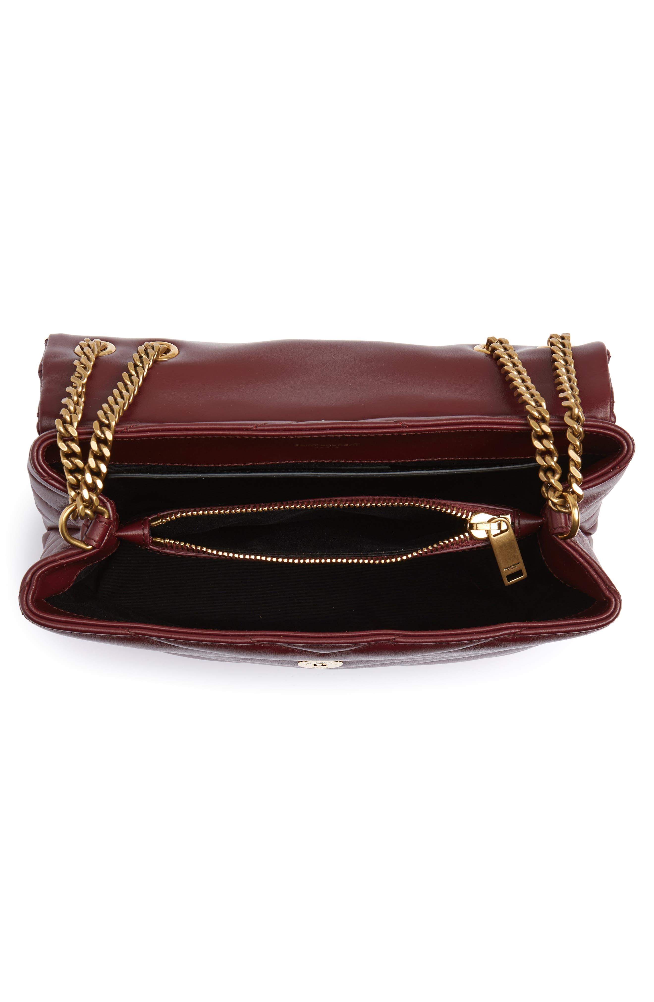 ,                             Small Loulou Leather Shoulder Bag,                             Alternate thumbnail 31, color,                             930