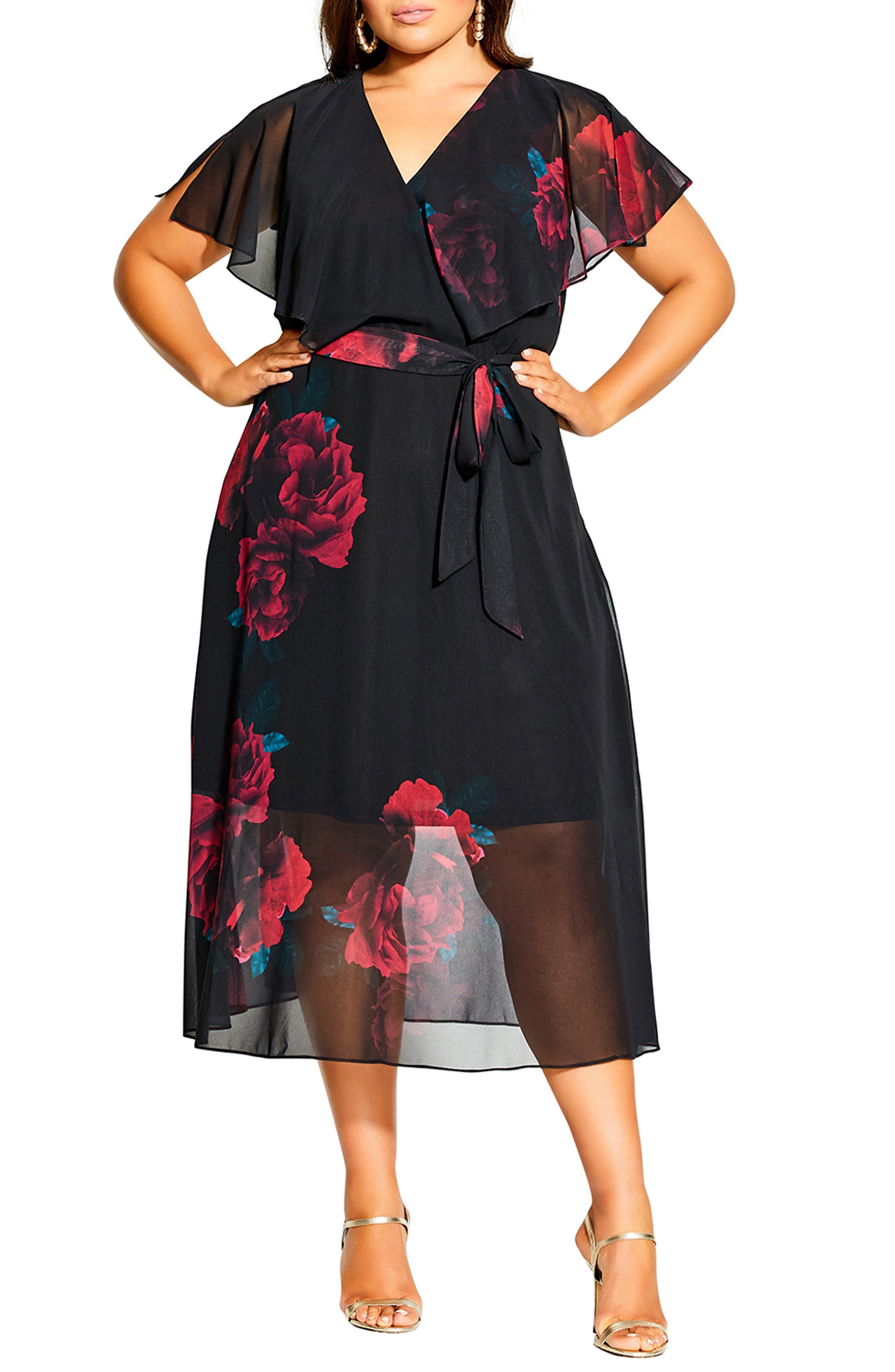 Romance Floral A-Line Dress