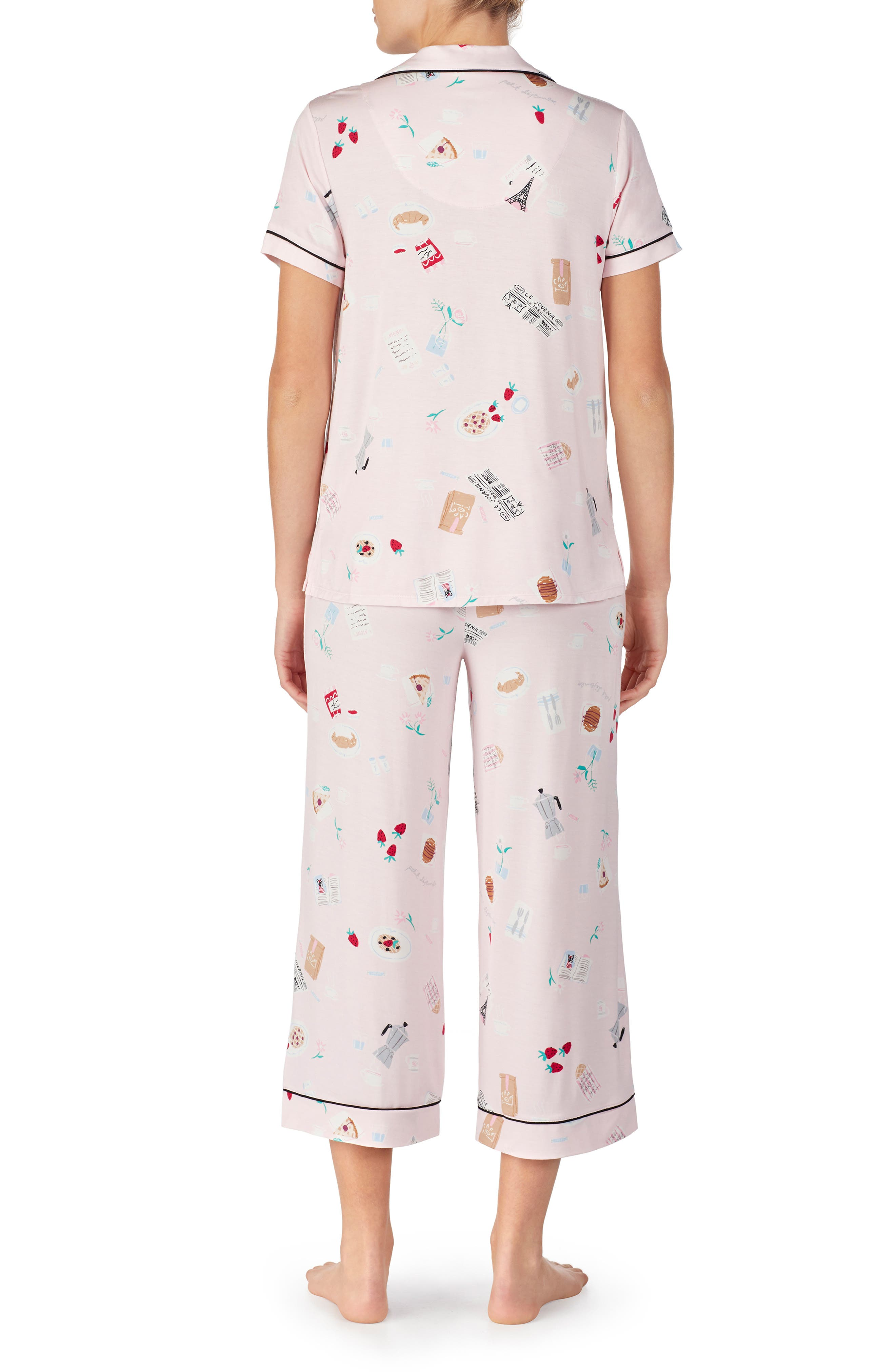,                             crop pajamas,                             Alternate thumbnail 2, color,                             PARISIAN BREAKFAST