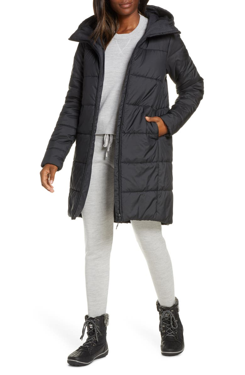 ICEBREAKER Collingwood 3Q Hooded MerinoLOFT<sup>™</sup> Insulated Water Repellent Jacket, Main, color, 006