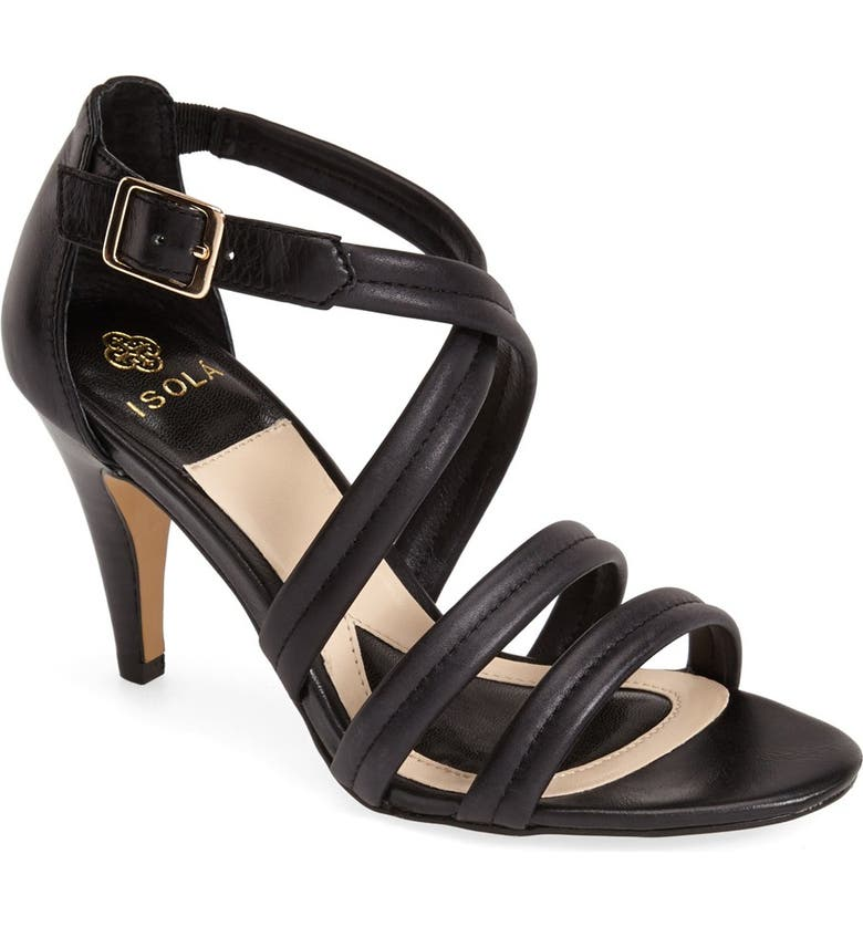 ISOLÁ Isola 'Delora' Strappy Suede Sandal, Main, color, 001