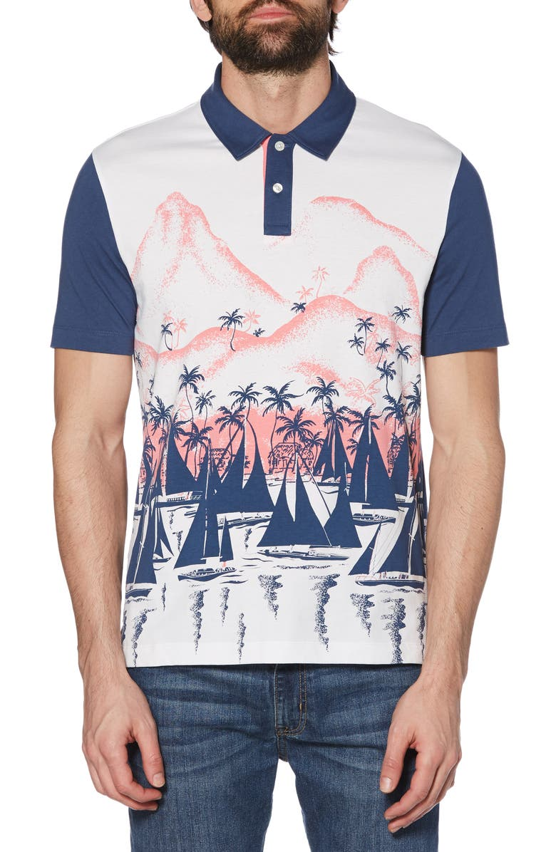 ORIGINAL PENGUIN Placement Boat Polo, Main, color, 118