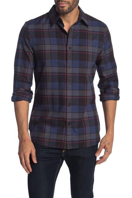 Image of Calvin Klein Plaid Pocket Shirt
